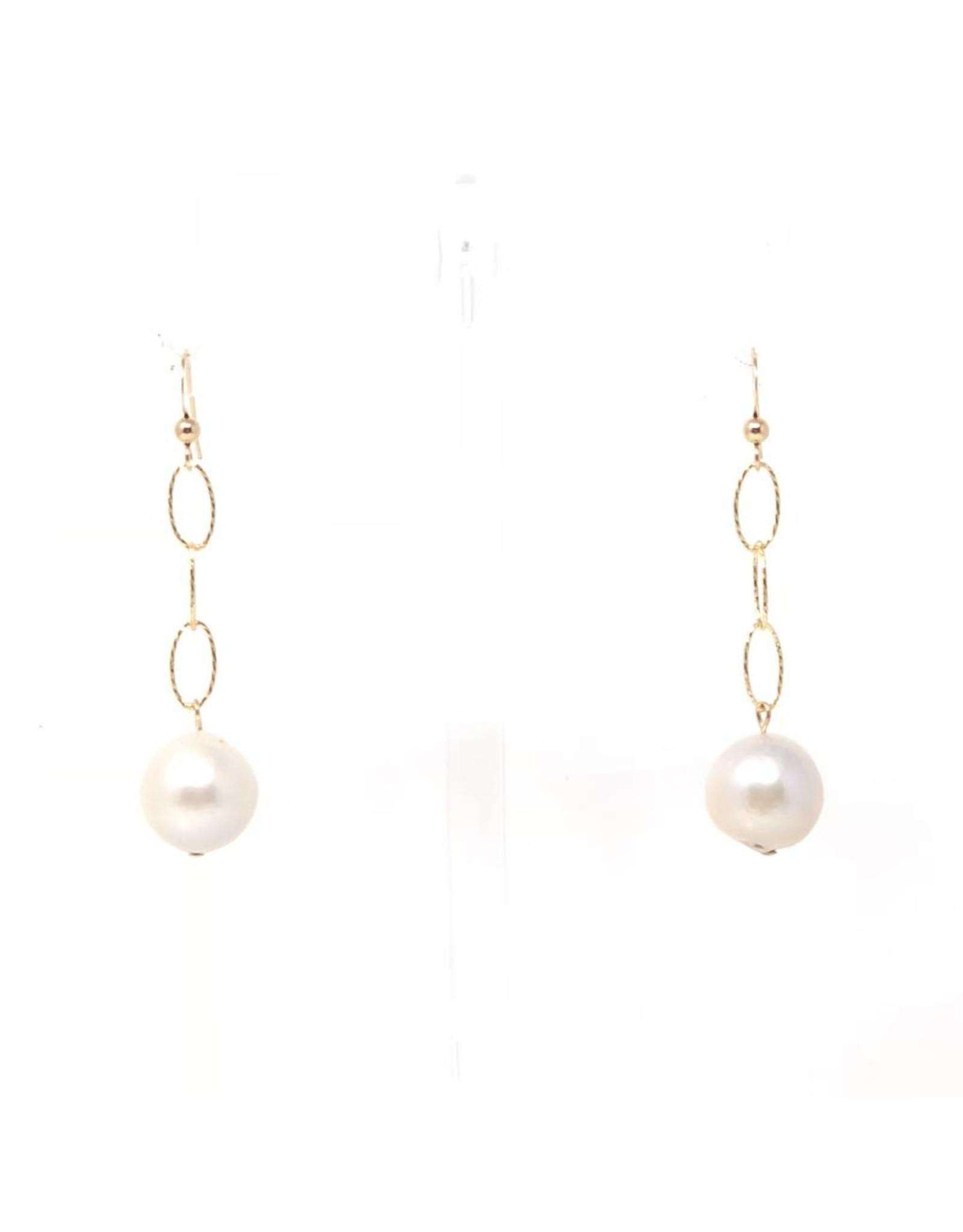 Baroque GF Diamond Cut Chain Earrings