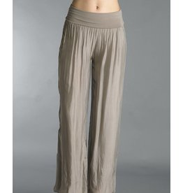 Taupe Silk Lined Pants