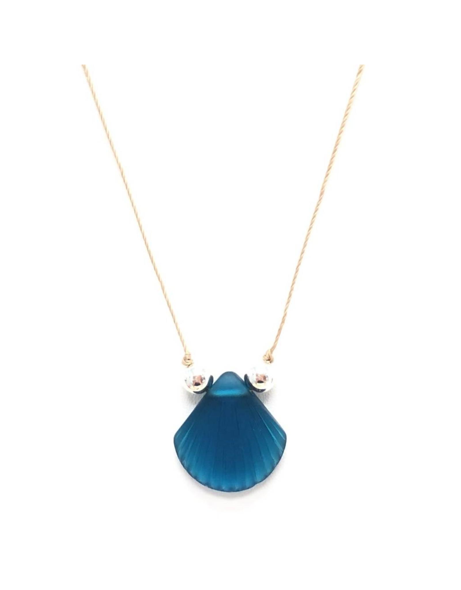 Sea Glass Shell on Silk