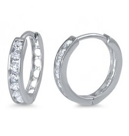 Sterling Huggie SIngle Earrings