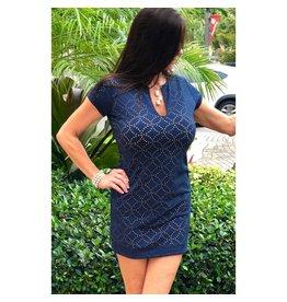 Palm Beach Girl Navy Lace Gwen Dress