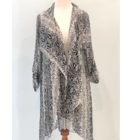 Black/White Silk Cardigan