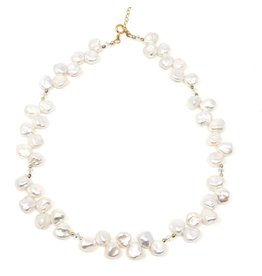 Keshi Pearl & Swarovski Necklace