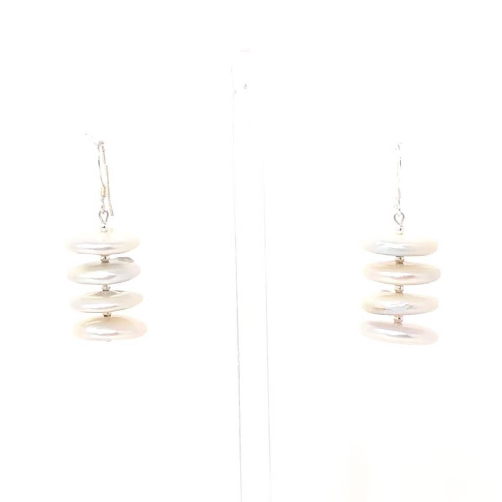 Disc FWP Earrings