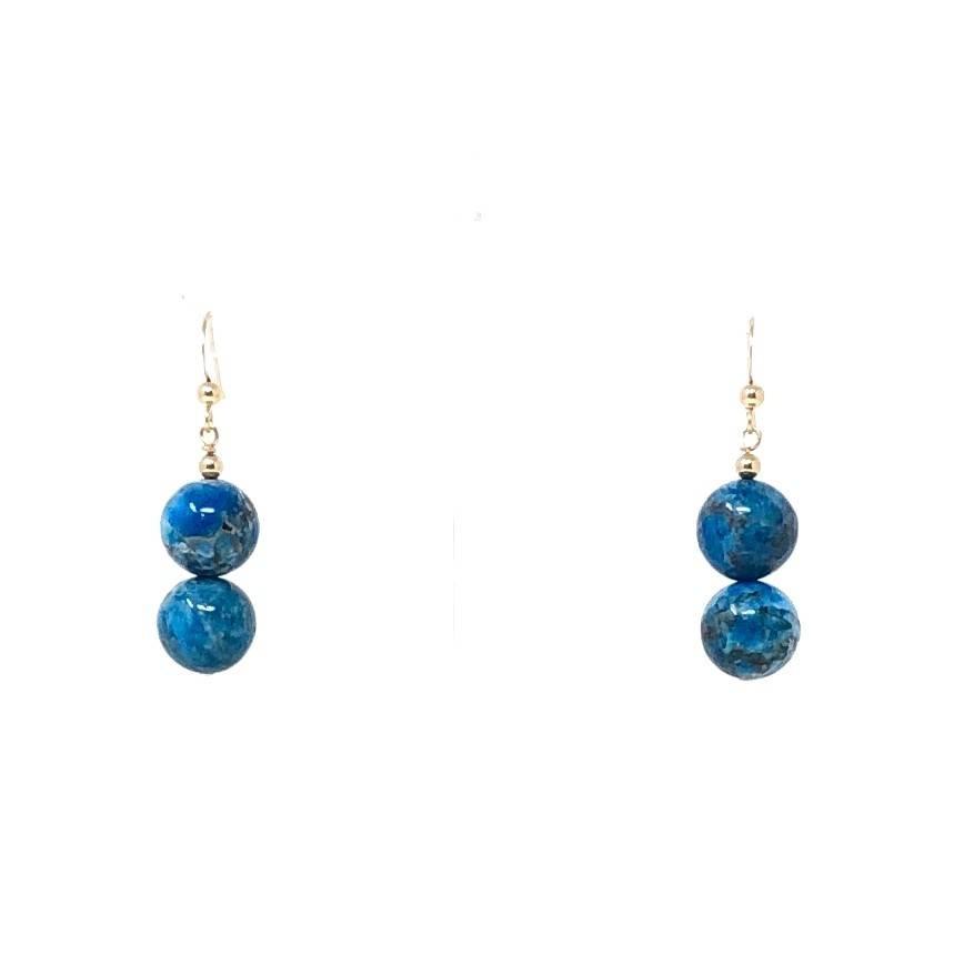 GF Apatite Double Drop Earrings