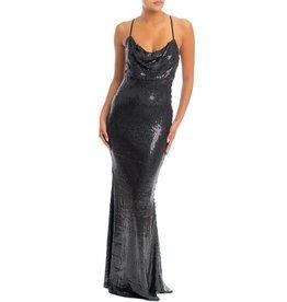 Black Sequin Mermaid Maxi