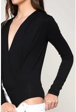 Black Cross-Front Bodysuit