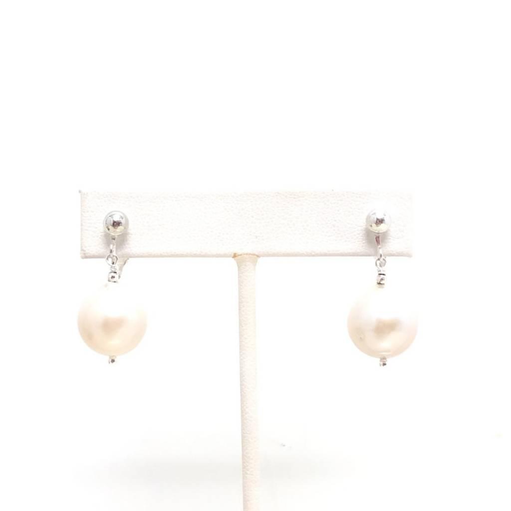 Baroque Pearl Clip Earrings