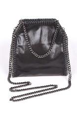 Black Bella Chain Mini Tote