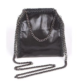 Black Bella Chain Mini Tote