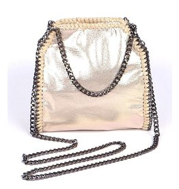 Gold Bella Chain Mini Tote