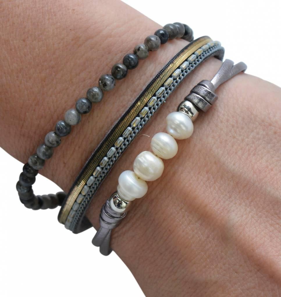 Grey FWP & Stone Bracelet