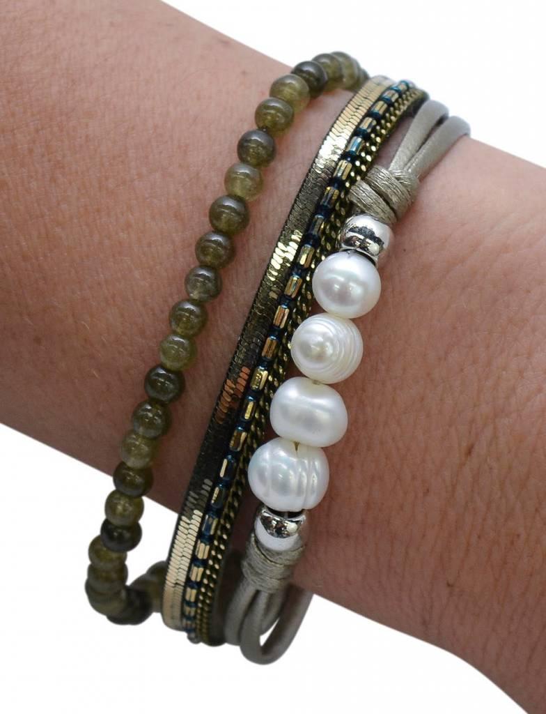 Sage FWP & Stone Bracelet