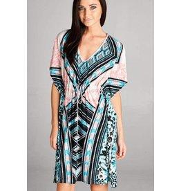 Cora Print Kimono Boho Dress