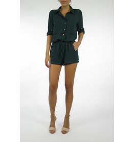Charcoal Button Romper