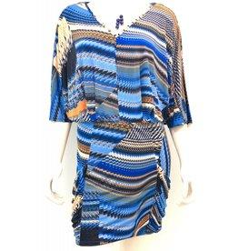 Abstract Pocket Mini Dress