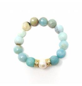 Fct. Amazonite & GF Pearl Bracelet
