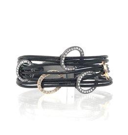 Sunrise USA Trading 5 Oval Bracelet Black
