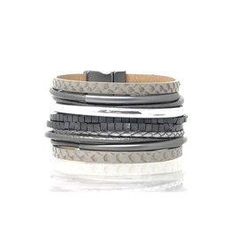 Sunrise USA Trading Maxed Out Multi-Strand Bracelet Gray