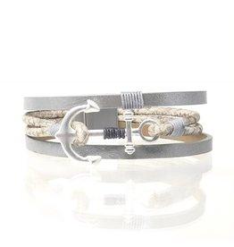 Sunrise USA Trading Anchor Magnetic Bracelet Silver