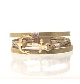 Sunrise USA Trading Anchor Magnetic Bracelet Gold