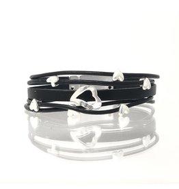 Sunrise USA Trading 7 Heart Bracelet Gray