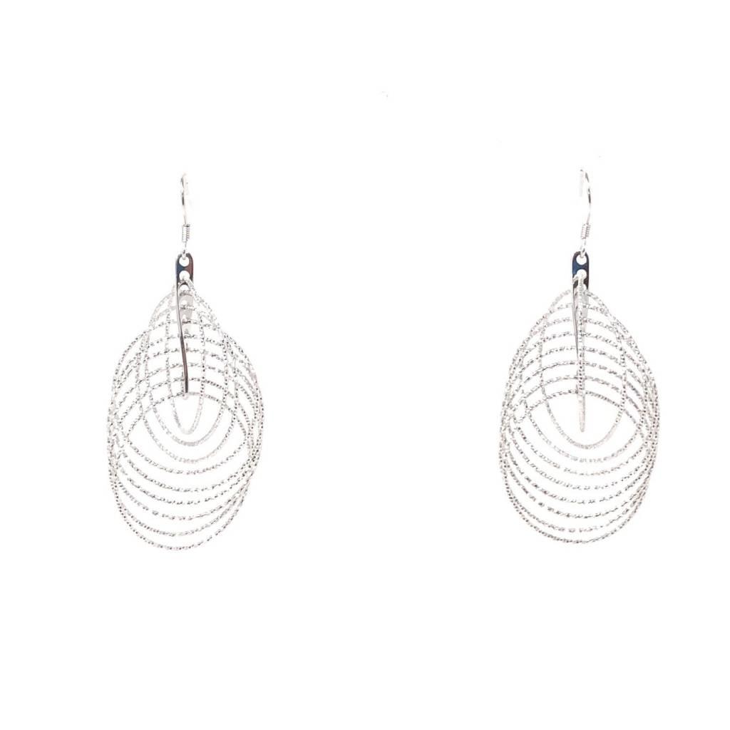 YTC Group 3-D Diamond Cut Circle Earrings