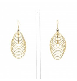 YTC Group 3-D Gold Diamond Cut Circle Earrings