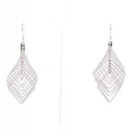 YTC Group 3-D Diamond Cut Square Earrings
