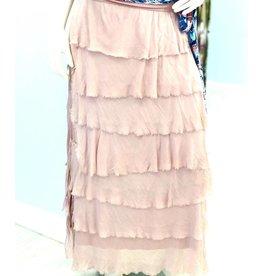 Dusty Rose Flutter Maxi Skirt