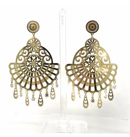 YTC Group Exotic Love Braz. Gold Filled Earrings