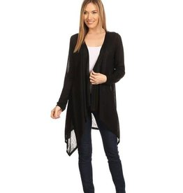 Black Knit Long Body Cardigan