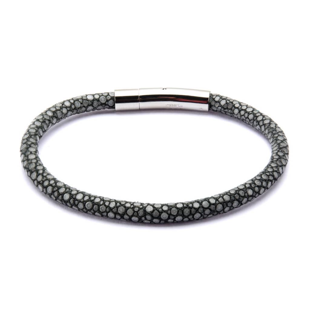 Inox Grey Stingray Leather Bracelet