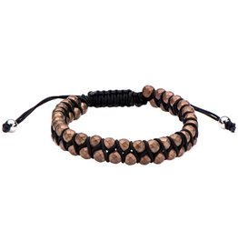 Inox Brown Hematite Adjustable Bracelet