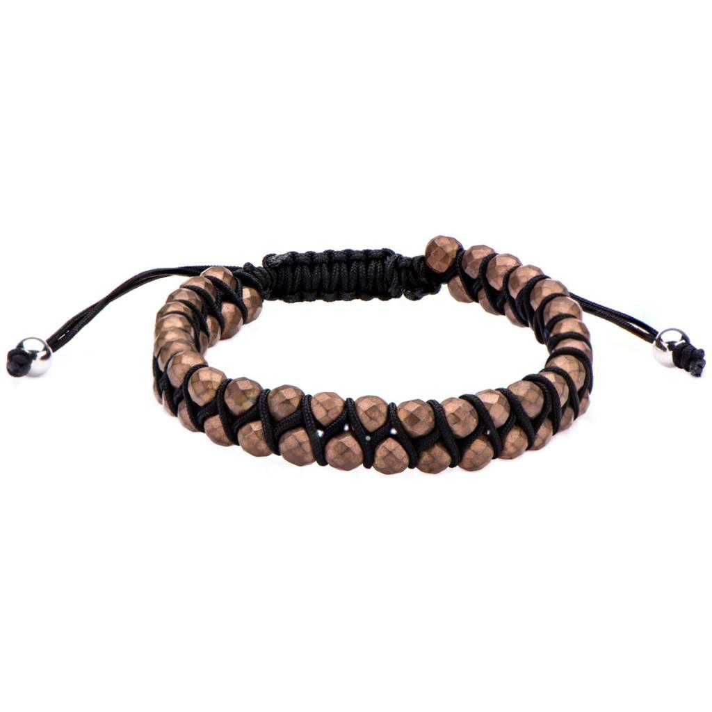Inox Brown Hematite Adjustable Bracelet