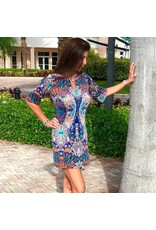 Palm Beach Girl Sequin Peacock Shift Dress