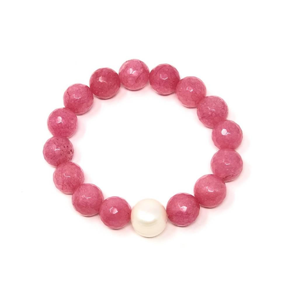 Rose Agate & FWP Bracelet