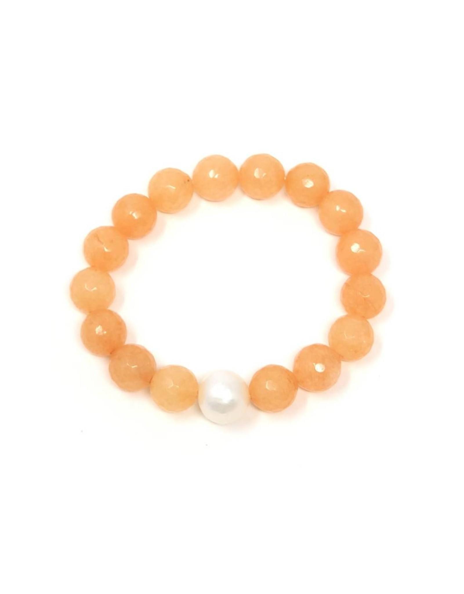 Tangerine Agate & FWP Bracelet