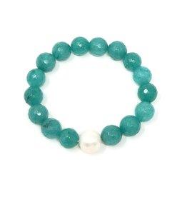 Teal Agate & FWP Bracelet