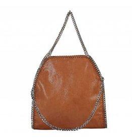 Brown Chain Trim Shoulder Bag