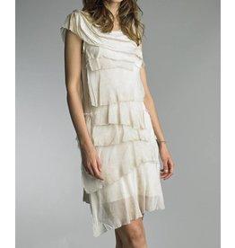 Beige Flutter Dress