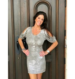 Palm Beach Girl Tan/Silver Megan Dress