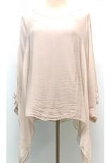 Beige Silk Sleeve Top