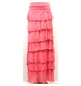 Coral Flutter Maxi Skirt