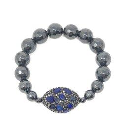 Lapis & Hematite Bracelet