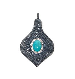 AF Design Group Crystal Leather Amazonite Pendant