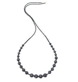 Graduated Hematite Long Necklace