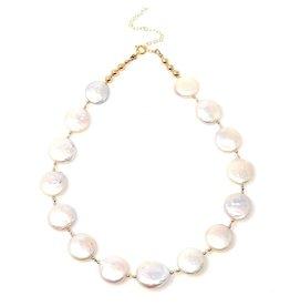 Coin Pearl & Swarovski Crystal Necklace