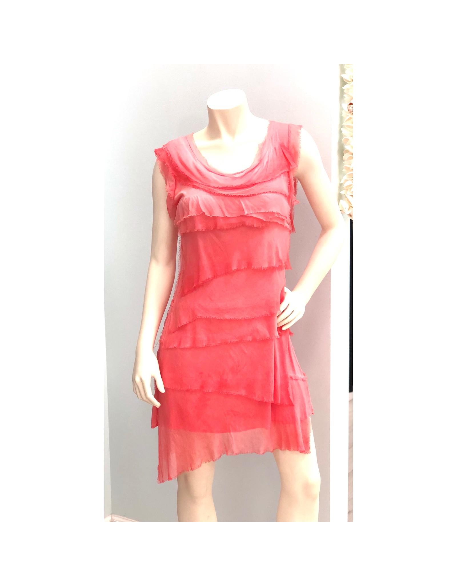Coral Flutter Dress