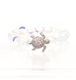 CZ Turtle & Quartz Bracelet